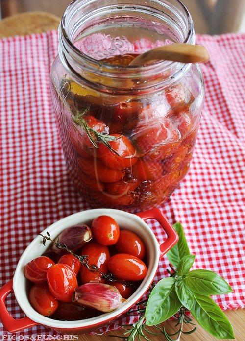 Tomatinhos confit com alho_F&F