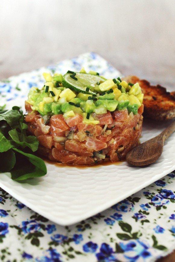 Tartar de salmão com abacate_F&F