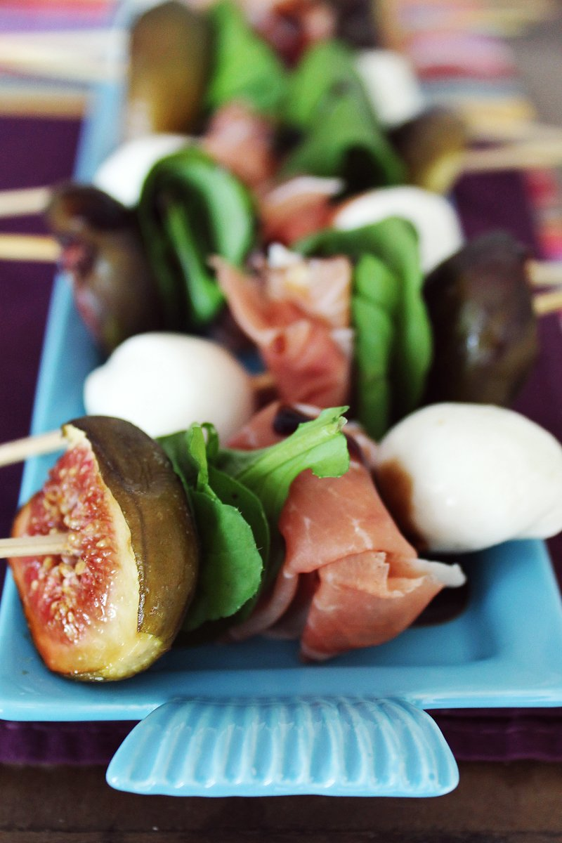 Espetinhos de figo, parma e mozzarella_F&F