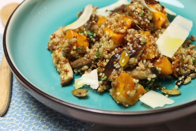 Salada de abóbora com shiitake e grãos_F&F
