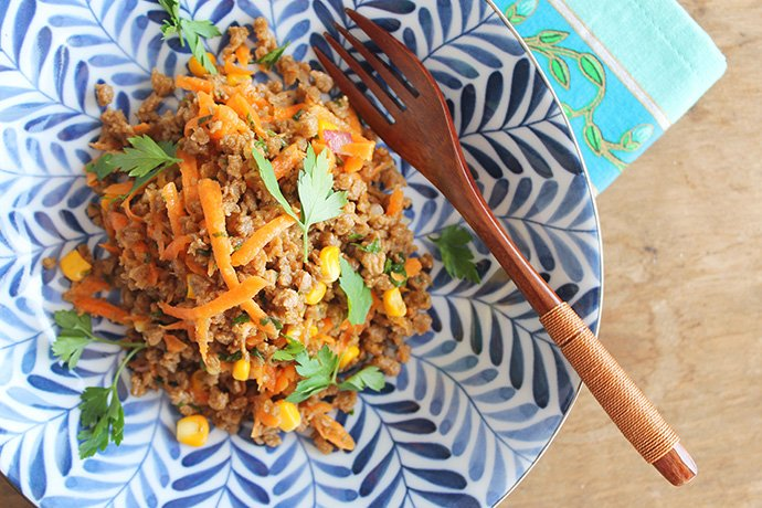 Salada de soja Thai