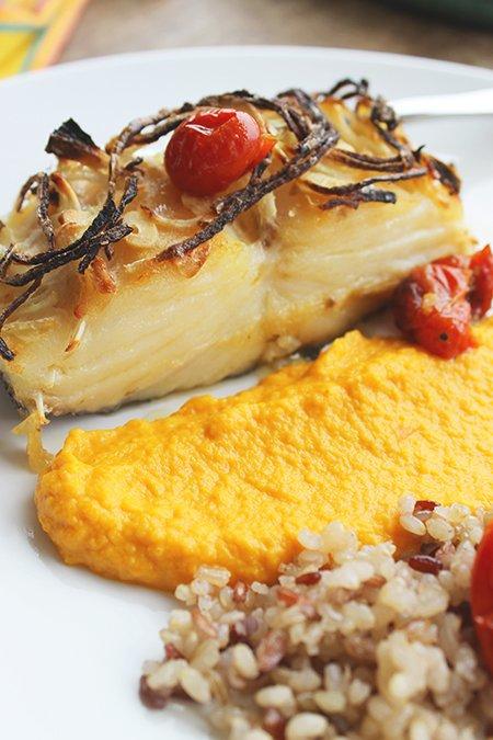 Bacalhau confitado com pure de cenoura_F&F