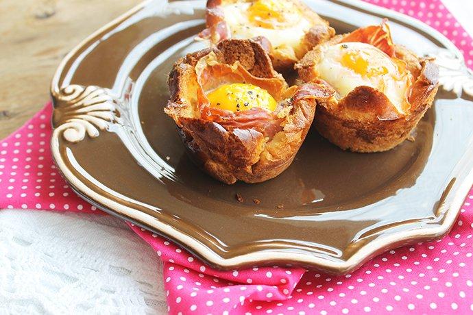 Ninhos de Brioche com jamón e ovo2_F&F