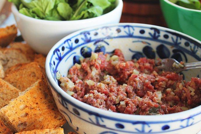 Steak Tartare com salada verde2_F&F