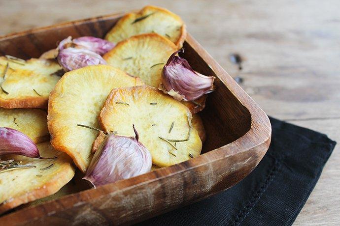 Batata-doce chips