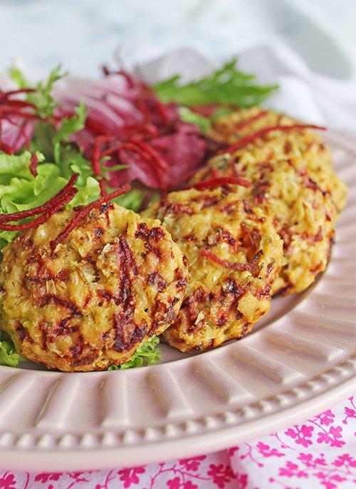 Mini hambúrguer vegetariano de couve-flor2_F&F
