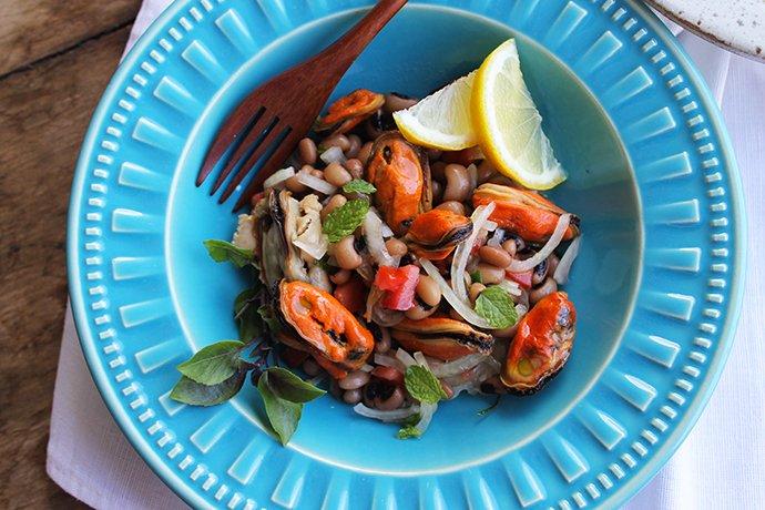 Salada de Mexilhões e Feijão Fradinho2_Blog Figos e Funghis