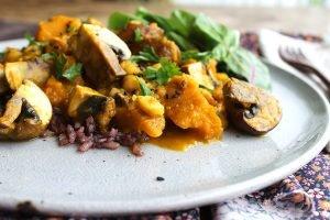 Curry Vegetariano de abóbora, grão-de-bico e cogumelo2_F&F