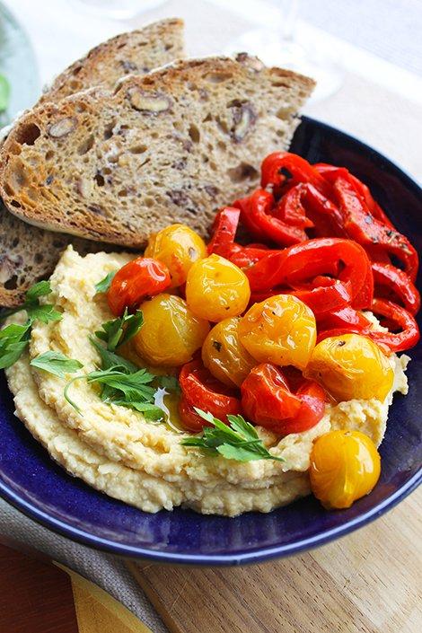 Mezze de hommus com legumes confit_Figos e Funghis