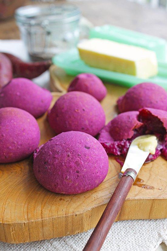 Pãozinho de batata-doce roxa_Figos e Funghis