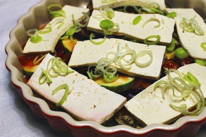 Legumes gratinados com tofu1