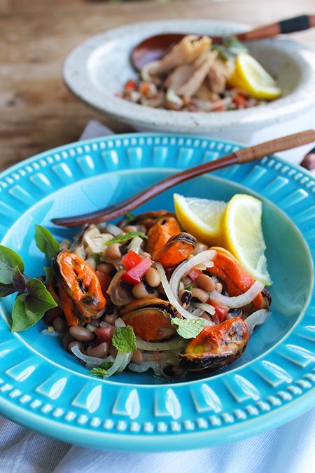 Salada de Mexilhões e Feijão Fradinho3_Blog Figos e Funghis