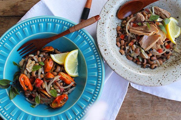 Salada de Mexilhões e Feijão Fradinho_Blog Figos e Funghis